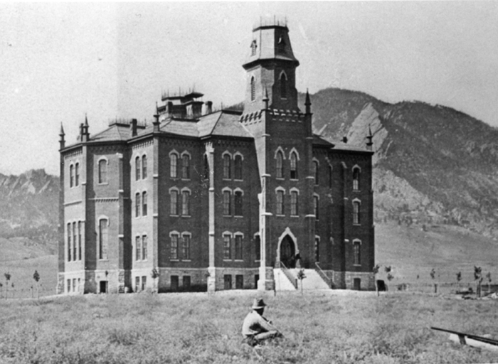 Old Main, 1877, Joseph Sturdevant, Photographer, University 754, Archives, University of Colorado at Boulder Libraries.