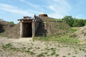 A Reconstructed Mandan Earth Lodge at On-a-Slant Village, ND