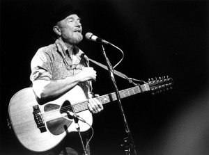 Pete Seeger in Concert February 20, 1986. Photo:
