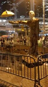 umbrella revolution statue oct 6 2014