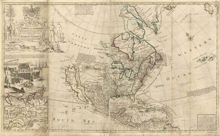 Herman Moll, Map of North America According to the Newest and Most Exact Observations. c. 1715. Graphic courtesy Library of Congress Geography and Map Division, Washington, D.C.